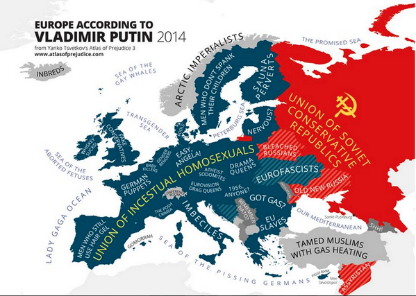 Europe according to Putin. A few of these would make excellent band names.(source: http://t.co/0Bi1oDnpcm) http://t.co/I2SyWYS24Z