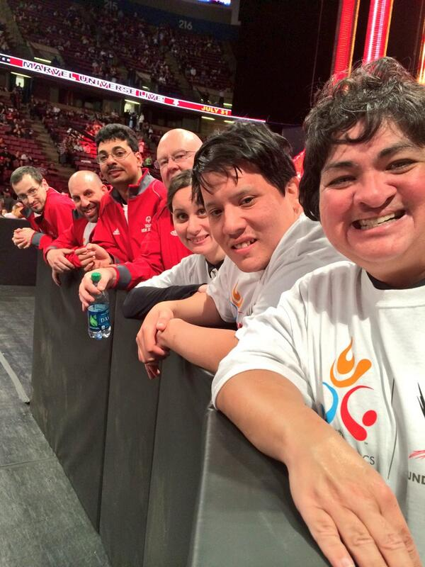 Team New Jersey athletes are front at center at #wweextremerules in East Rutherford tonight! Thank you @WWECommunity! http://t.co/5MQxB0Ge8D