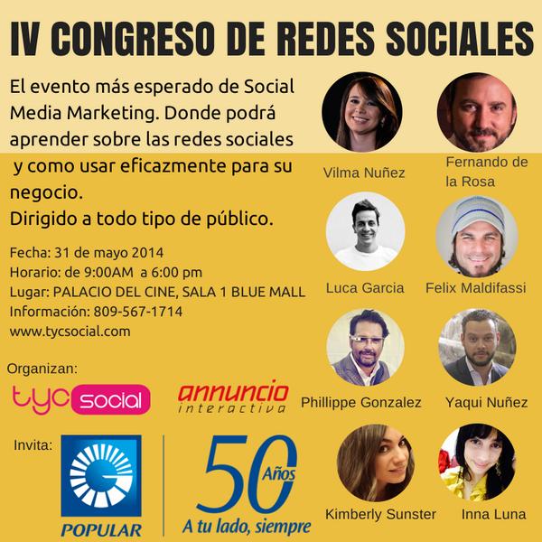 Este año @Popularenlinea te lleva al IV Congreso de Redes Sociales. Participa aquí http://t.co/3xpjIuZgTa  ¡Suerte! http://t.co/QEWWXS6KQi