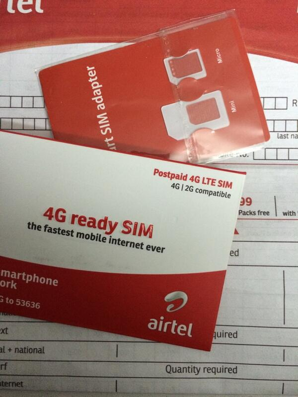 The @Airtel_Presence 4G nano SIM comes with a free Micro and Full size SIM adapter. Well done Airtel! http://t.co/bovyivRkXc