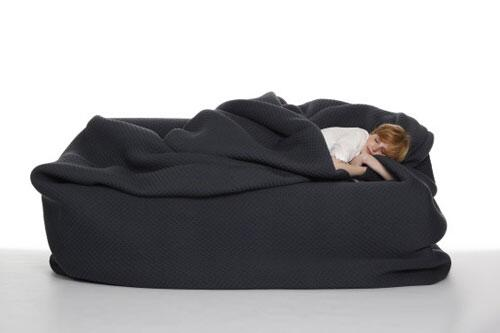 Bean Bag Bed With Built In Blanket