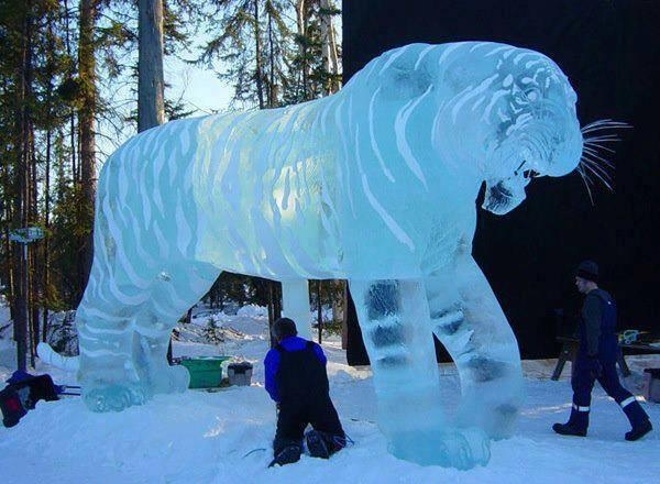 Amazing ice sculpture in China http://t.co/S6og686WFf