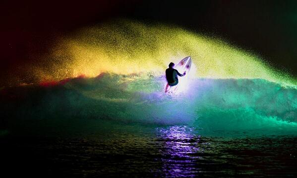 Damien Hobgood and Chippa Wilson surf a board with glassed in LED lights in a Saharan wavepool http://t.co/uiIYvupJLY http://t.co/IH4AwlfZJh