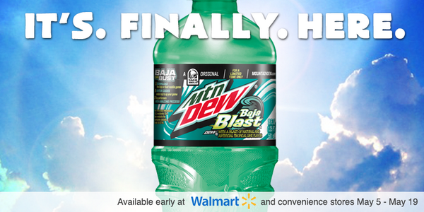 No, this isn't a mirage. Baja Blast is in bottles and cans for the #SummerOfBaja only. http://t.co/igfZxSXKG7