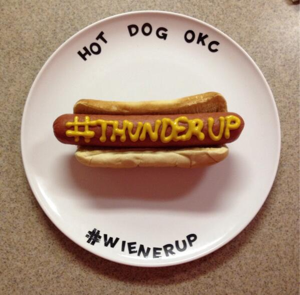 #WienerUp #ThunderUp #BeatTheClippers http://t.co/jcXs6qDEXm