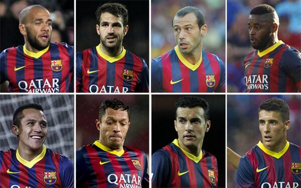 Bm5TKEiCEAAXUlY Barcelona to put 13 players on the transfer market inc. Fabregas, Song, Mascherano & more [Sport]
