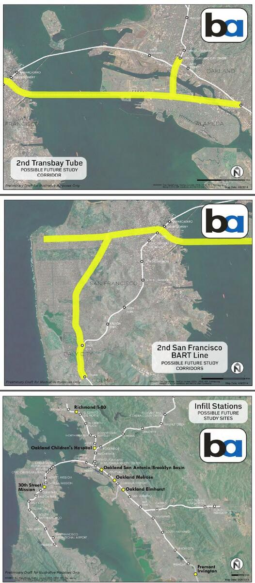 Ideas for 2nd BART Transbay Tube, new SF lines, infill stations in atts to http://t.co/PD0SNKb9fO via @RebeccaForBART http://t.co/68E1HYFRci