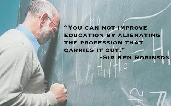 """You cannot improve education by alienating teachers."" Sir Ken Robinson #abed #ableg #InspiringEd http://t.co/Jl2vhohaib"
