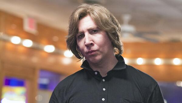 Sian Welby (@Sianwelby): Wow, this is awkward, Marilyn Manson actually looks creepier without makeup on. http://t.co/UaNnpfFTmv