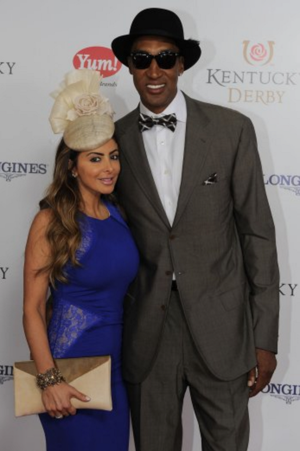 @larsapippen looked great at the #KentuckyDerby wearing @GinaFosterHats 'Clover' from SS14 - The Chelsea Collection.