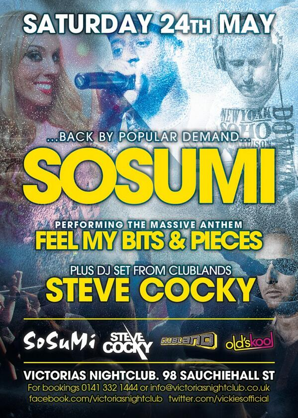Canny wait to get back to glasgow #loveglasgow night of BIG tunes @VickiesOfficial with @Sosumi_ @BENJAMIN_MCB http://t.co/qr43ELMEaM