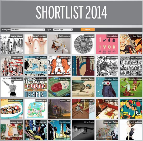 Awards - The AOI is delighted to announce the AOI Illustration Awards 2014 shortlist. http://t.co/bYkkMiM5RS http://t.co/WxXSF7NXXZ