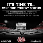 Its time to name the student section at DWS. Tweet suggestions using #StateYourVote until 5/1. Top 5 will move on. http://t.co/YOpWVHkEQD