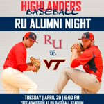 RT @radford_alumni: Cheer on the @RadfordBaseball as they battle VT on April 29 at 6pm at RU. All #RUAlumni check in at alumni tent! http://t.co/fjcQs4c487
