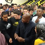 The real Coach Carter is signing autographs for students at Dakota Collegiate after speaking to the school #Winnipeg http://t.co/Np7UdA8ggt