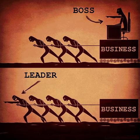 La diferencia entre un jefe y un líder http://t.co/RWUHyAVPDE