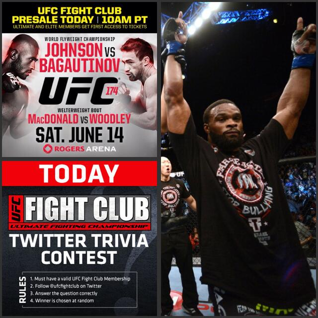 Here's your first Trivia Q of the day, FC: What is @TWooodley's favorite grappling technique? http://t.co/OkGCr9ldkl