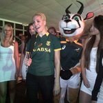 Hey @48HoursTV. @liezelv with #bokkie #SpringbokJersey launch.#MadeOfSA @VandAWaterfront http://t.co/da7mCECOk5