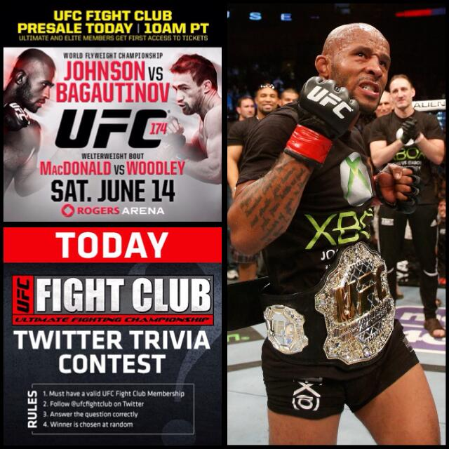 Last Trivia Q of the day, Fight Club! Who did @MightyMouseUFC fight in back to back events? http://t.co/3SjGynZh3W