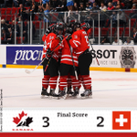 RT @HockeyCanada: Canada advances to the semifinals at U18 Worlds, defeating Switzerland 3-2. Stats: http://t.co/e4rpqGyz4o http://t.co/HNwZnia0zS