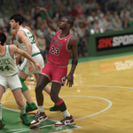 RT @NBA2K: In 1986, Michael Jordan made history scoring a playoff-record 63 points over the Celtics. #NBA2K14 #throwbackthursday http://t.co/YayhpobPoj