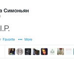 "Editor in chief of RT, @M_Simonyan, tweets: ""Ukraine, R.I.P."" http://t.co/8dW2AAYgKD h/t @AshleyCodianni http://t.co/xdU4Um5V9K"