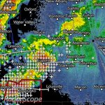 8:24 PM radar update. Lots of lightning, gusty winds, and heavy rain headed out way. #MSwx http://t.co/t5RyPiPgVG