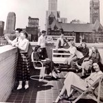 RT @kellystrib: What deadlines? People chilling out decades ago on the deck of our soon-to-be demolished @StarTribune building. #tbt http://t.co/VebXj4piby