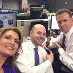 Its the 50th Anniv. of the cubicle? @CBS11TD knew. Bet #RonBurgandy did too. With @cbs11doug. @CBSDFW #cubeselfie http://t.co/46fvONwtUP