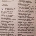 Here is the @MENnewsdesk #postbag letter in tonights on the #SayNotoLevenshulmeTakeAway campaign by @cllrjhennigan http://t.co/mxcwze54xP