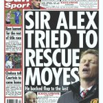 "Fridays Sun back page - ""Exclusive - Sir Alex tried to rescue Moyes"" #tomorrowspaperstoday #bbcpapers #mufc http://t.co/nYKfuFuJqO"