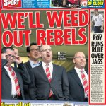 "RT @altyred_bec: ""@suttonnick: ""Well weed out rebels"" #tomorrowspaperstoday #bbcpapers #mufc http://t.co/S78tXnIY2e"" What about weeding out those cunts?"