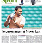 "Fridays Times back page - ""Ferguson anger at Moyes leak"" #mufc http://t.co/L0GPvIV3Hi"