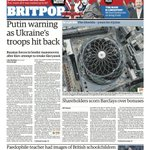 RT @guardian: Todays front page: Putin warning as Ukraines troops hit back http://t.co/R2bNSvyq1c http://t.co/cJCUE4FaGT