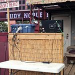 "The ""Right Field Tiki Lounge"" is ready for @KP_Omaha and @ESPNU. #HailState http://t.co/TWCutMsB6s"
