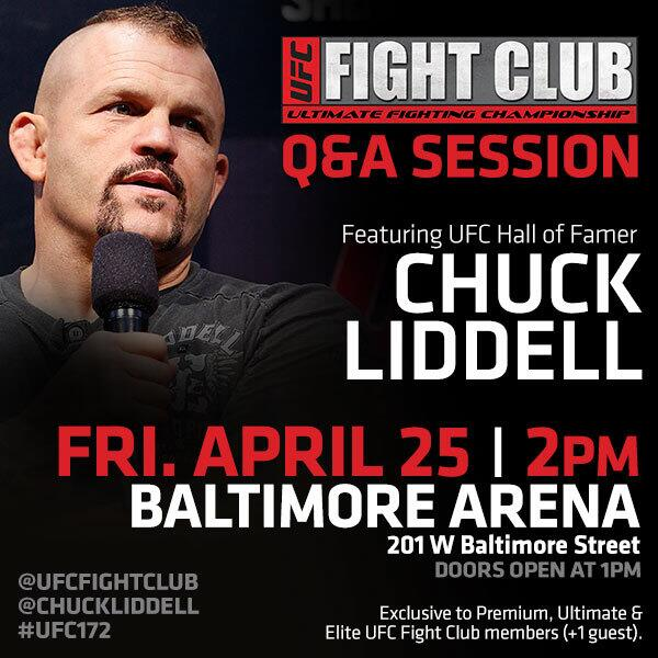Ready #UFC172 this wknd? Who has some good Qs ready for @ChuckLiddell? Get your barcodes from http://t.co/i3T1GbcQRt http://t.co/wOTcNYNYc2