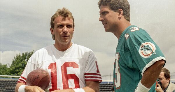 #49ers HOF @JoeMontana to play vs. @DanMarino in Candlestick Park flag-football finale. READ: