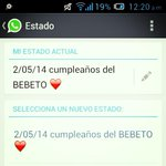 Mi estado de whatsapp @El_Bebeto amo mi estado de whatsapp :-) http://t.co/KeK52zYS1M