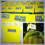 19,596 gold shirts await #DubNations arrival. 2 hours till doors open. 4 hours till tipoff. #WarriorsGround #BeatLA http://t.co/0lkctpcOxg