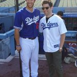 New Girl star and Max Greenfield. RT @iamgreenfield: Ive been signed #firstpitch #mechanics @Dodgers http://t.co/JnHwSEEW4K