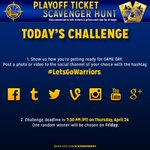 Congrats to @karenaaaho & the 5 other Playoff Ticket Scavenger Hunt winners coming to the game. Game 4 challenge: http://t.co/6F3SV7CJ1Y