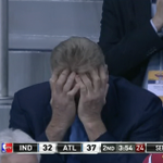 RT @BleacherReport: Larry Bird is not happy about the Pacers struggles vs. Atlanta. GIF: http://t.co/pxAC67Ae2p http://t.co/aij6eRWNrb