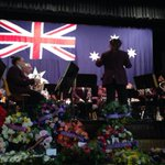 A moving service at the Beautiful Tamworth Town Hall. Lest We forget http://t.co/yahvAa8kPW