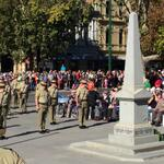 Proud to stand with @mareeedwardsmp & @JacintaAllanMP for the Bendigo ANZAC Service #lestweforget http://t.co/eZExOkvqAr