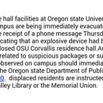 BREAKING: Bomb threat at #OSU. Details #liveinkval RT @oregonstateuniv: ATTENTION Corvallis campus: http://t.co/GVFO1hUgEq