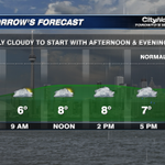 #Torontos forecast for Friday April 25th. #CityWx http://t.co/1XougksXWR