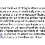 RT @AutzenStudents: PSA: the Residence Halls at OSU are being evacuated #StaySafeBeavers http://t.co/Gnpi0QvNfi