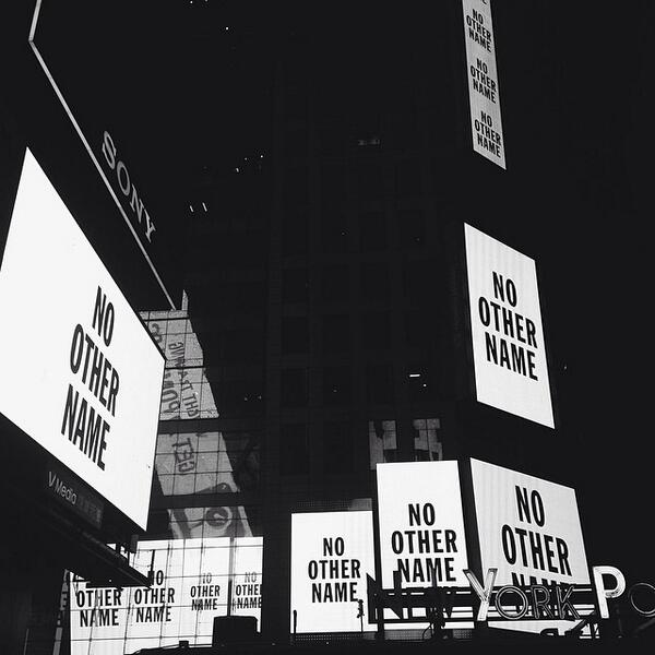 Times Square in NYC was taken over to make a statement...There is #NoOtherName but JESUS! http://t.co/CU7gvPPXTv