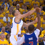 Not only did CP3 hit the elbow he also gut shotted Curry http://t.co/iWyQnE81pu #NBAPlayoffs