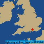Thunder will feature with some of todays rain. Heres where lightnings been detected in the hour to 07:15am. MattT http://t.co/EModiTBSBe